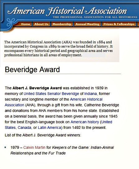 Albert J. Beveridge Award from the American Historical Assoc.