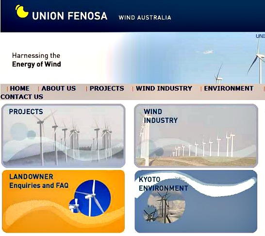 Wind turbine syndrome arrogant windfarm projects for Oficina union fenosa